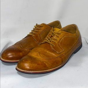 Phifa Light Brown Leather Oxfords Mens Size 11